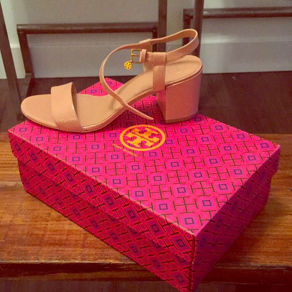 716ac9c1037c1 Tory Burch Shoes | Laurel 65mm Anklestrap Sandals In Nude | Poshmark